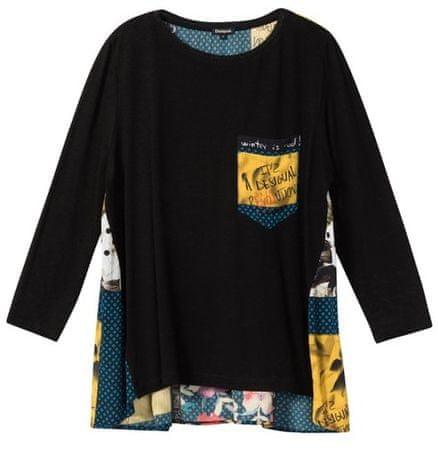 Desigual koszulka damska Ts Lindsey XS czarna