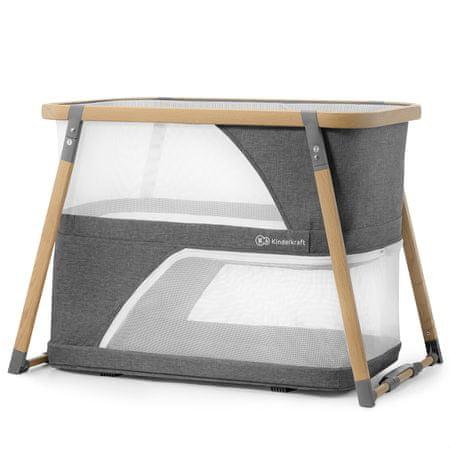 KinderKraft łóżeczko turystyczne 2w1 SOFI gray