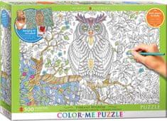 EuroGraphics Color me puzzle Moudrá sova 500 dílků + sada na zavěšení