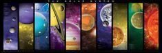 EuroGraphics Panoramatické puzzle Sluneční soustava 1000 dílků