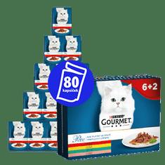 Gourmet zestaw mokrej karmy dla kotów Perle multipack 10(8x85g) - mini filety w sosie 6+2 szt.