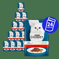 Gourmet mokra karma dla kota Perle z wołowiną i marchewką 24 x 85g