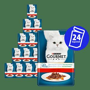 Gourmet Perle z govedino in korenjem, 24 x 85 g