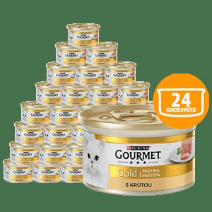 Gourmet mačja hrana Gold, pašteta s puranom, 24 x 85 g