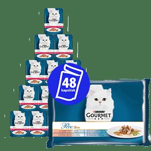 Gourmet Perle multipack 12(4×85g) - halas duó 3+1 ingyen