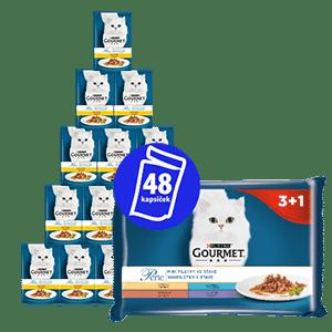 Gourmet Perle hrana za mačke, Multipack 12(4x 85 g) – mini fileji v soku 3+1 zastonj