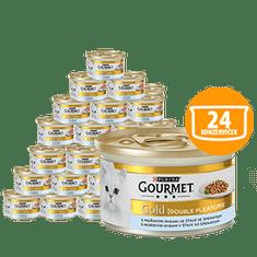 Gourmet Gold, z rybami morskimi i szpinakiem 24 x 85g