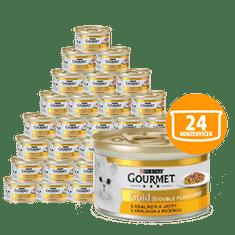 Gourmet mokra karma dla kota Gold królik z wątrobą 24 x 85 g