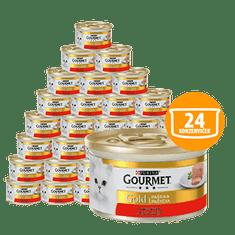 Gourmet mokra karma dla kota Gold pasztet z wołowiną 24 x 85 g