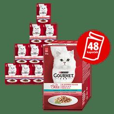 Gourmet Mon Petit Multipack 8x(6x50g) tonhal, lazac, pisztráng nedves macskaeledel