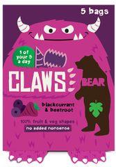Bear Želé drápky černý rybíz a červená řepa 5x18 g