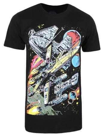 Star Wars férfi póló Falcon Battle M fekete
