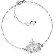Amen Oryginalny Srebrnybransoletka z koronami cyrkoniami BRC2 srebro 925/1000