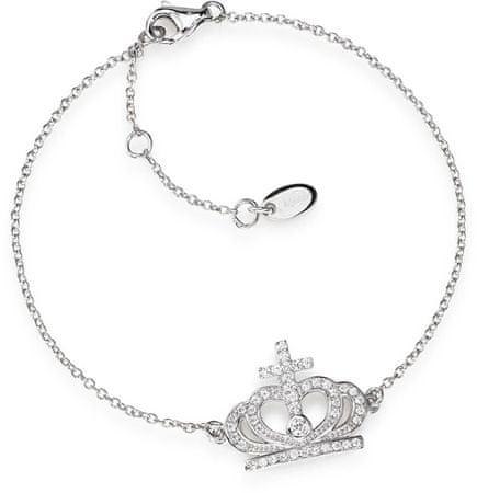Amen Eredeti ezüst karkötő cirkóniákkal Crowns BRC2 ezüst 925/1000
