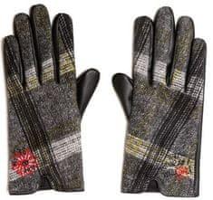 Desigual dámské šedé rukavice Gloves Tars