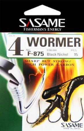 Sasame Háček Wormer s očkem vel.8