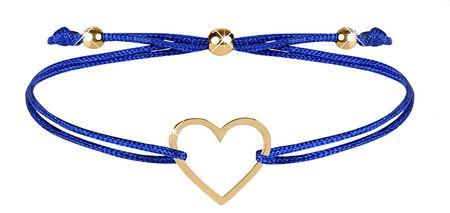 Troli Zavešena zapestnica s srčno modro / zlato barvo