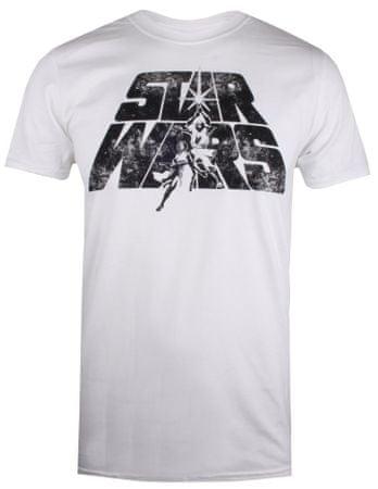 Star Wars férfi póló Retro Logo XXL fehér