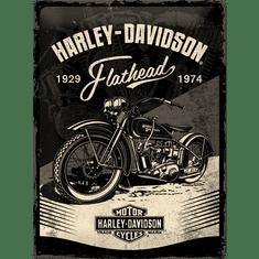 Postershop Plechová cedule: Harley-Davidson (Flathead Black) - 40x30 cm