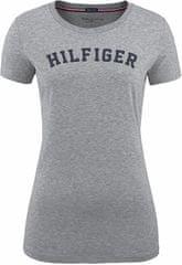 Tommy Hilfiger Dámske tričko Cotton Iconic Logo SS Tee Print UW0UW00091-004 Grey Heather