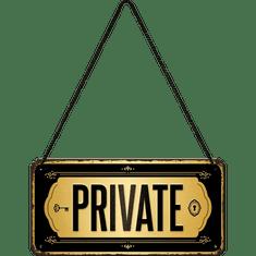 Postershop Závěsná cedule: Private - 10x20 cm