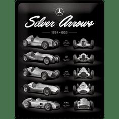 Postershop Plechová ceduľa: Mercedes-Benz (Silver Arrows Chart) - 40x30 cm