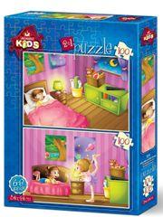 Art puzzle Puzzle 100 dílků 2 Puzzles - Kids