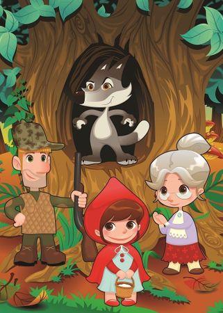 Art puzzle XXL db - Little Red Riding Hood