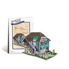 CubicFun Flower House 3D 31 dielikov