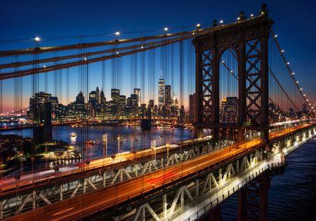 Grafika Puzzle 1000 db Brooklyn Bridge, Manhattan, New York