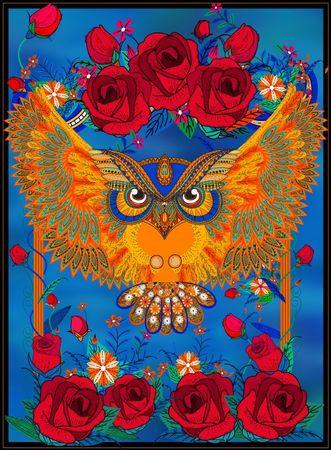 Grafika Puzzle 2000 db Owl & Roses