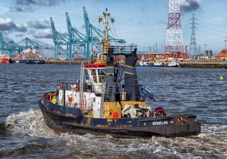 Grafika Puzzle 1000 db Tugboat in Antwerp