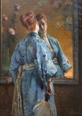Grafika Puzzle 1000 db Alfred Stevens: La Parisienne Japonaise, 1872