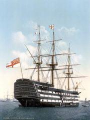 Grafika Puzzle 2000 dílků HMS Victory in Portsmouth, 1900