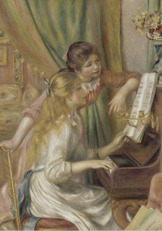Grafika Puzzle 1000 db Auguste Renoir : Jeunes filles au piano, 1892