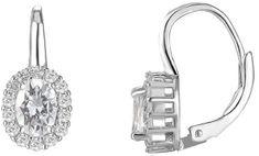 Beneto Ezüst fülbevaló tiszta kristályokkal AGUC1166 ezüst 925/1000