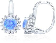 Beneto Ezüst fülbevaló opálos kristályokkal AGUC1204 ezüst 925/1000