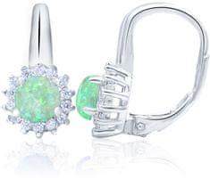Beneto Ezüst fülbevaló opálos kristályokkal AGUC1206 ezüst 925/1000