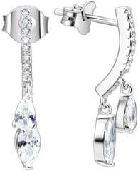 Beneto Ezüst fülbevaló kristályokkal AGUP1150 ezüst 925/1000