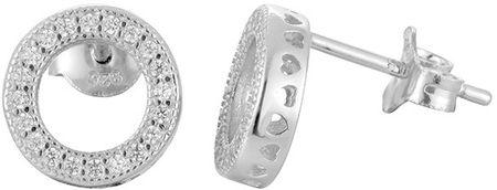 Beneto Srebrni uhani s kristali AGUP917 srebro 925/1000