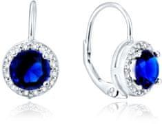 Beneto SrebrneKolczyki z niebieskimi kryształami AGUC1156 srebro 925/1000