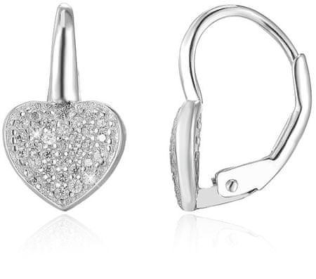 Beneto Szív alakú ezüst fülbevaló AGUC366 ezüst 925/1000