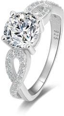 Beneto Srebrni prstan s bleščečimi kristali AGG204 srebro 925/1000