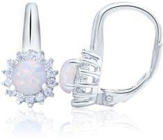Beneto Ezüst fülbevaló opálos kristályokkal AGUC1205 ezüst 925/1000