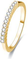 Beneto Pozlačen srebrni prstan s kristali AGG189 srebro 925/1000