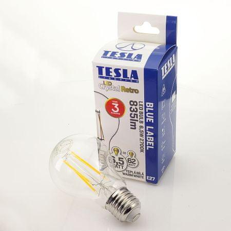 TESLA LED izzó CRYSTAL RETRO BULB E27, 6,5W