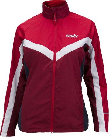 Swix ženska jakne Tracx (12877), S, rdeče-bela