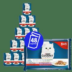 Gourmet Gourmet hrana za mačke, kosti u umaku od povrća, 12 x (4 x 85 g)