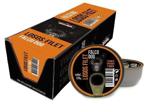 FALCO Dog Filet z lososa 8x120g