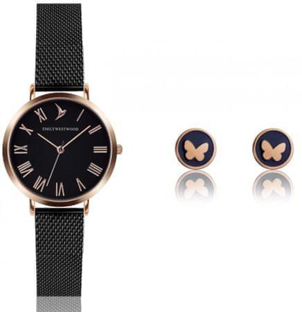 Emily Westwood EWS017 komplet ženskog ručnog sata i naušnica